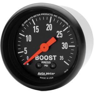 "2-1/16"" Gauges - Auto Meter Z-Series - Autometer - Auto Meter Z-Series, Boost Pressure 35psi (Mechanical)"