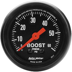 "2-1/16"" Gauges - Auto Meter Z-Series - Autometer - Auto Meter Z-Series, Boost Pressure 60psi (Mechanical)"