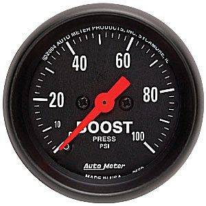 "2-1/16"" Gauges - Auto Meter Z-Series - Autometer - Auto Meter Z-Series, Boost Pressure 100psi (Mechanical)"