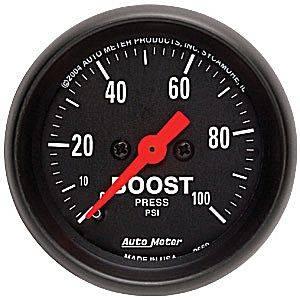 Auto Meter Z-Series, Boost Pressure 100psi (Mechanical)
