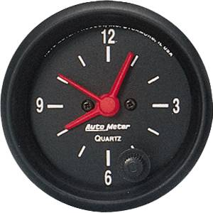 "2-1/16"" Gauges - Auto Meter Z-Series - Autometer - Auto Meter Z-Series, Clock (Electric)"