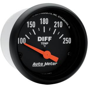 "2-1/16"" Gauges - Auto Meter Z-Series - Autometer - Auto Meter Z-Series, Differential Temp 100*-250*F (Short Sweep Electric)"