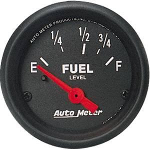 "2-1/16"" Gauges - Auto Meter Z-Series - Autometer - Auto Meter Z-Series, Fuel Level (Short Sweep Electric) GM"