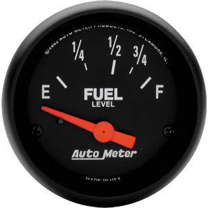 "2-1/16"" Gauges - Auto Meter Z-Series - Autometer - Auto Meter Z-Series, Fuel Level (Short Sweep Electric) Ford/Chrysler"