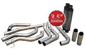 "Exhaust - 3.5"" Cat/DPF Back Exhaust - Bully Dog - Bully Dog, Nissan (2004-09) Titan 5.6L, 3.5"" Dual Sport Side Exit"