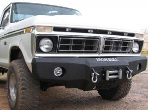 Brush Guards & Bumpers - Front Bumper Replacement Brush Guards - Iron Bull Bumpers - Iron Bull Front Bumper, Ford (1978-79) Bronco, (73-79) F150/F250