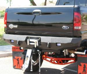 Brush Guards & Bumpers - Rear Bumpers - Iron Bull Bumpers - Iron Bull Rear Bumper, Ford (2005-07) Superduty