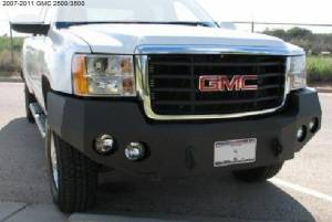 Brush Guards & Bumpers - Front Bumper Replacement Brush Guards - Iron Bull Bumpers - Iron Bull Front Bumper, GMC (2007.5-11) 2500/3500