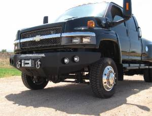 Brush Guards & Bumpers - Front Bumpers - Iron Bull Bumpers - Iron Bull Front Bumper, GMC (2003-09) Topkick 4500-7500