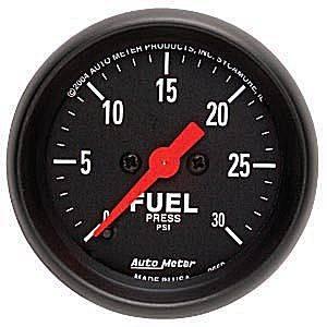 "2-1/16"" Gauges - Auto Meter Z-Series - Autometer - Auto Meter Z-Series, Fuel Pressure 30psi (Full Sweep Electric)"