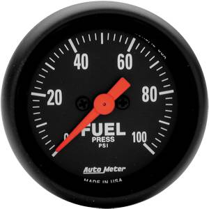 "2-1/16"" Gauges - Auto Meter Z-Series - Autometer - Auto Meter Z-Series, Fuel Pressure 100psi (Full Sweep Electric)"