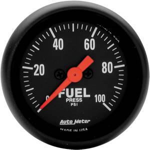 "2-1/16"" Gauges - Auto Meter Z-Series - Autometer - Auto Meter Z-Series, Fuel Pressure 100psi (Full Sweep Electric)"