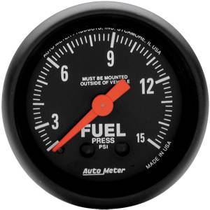 "2-1/16"" Gauges - Auto Meter Z-Series - Autometer - Auto Meter Z-Series, Fuel Pressure 15psi (Mechanical)"