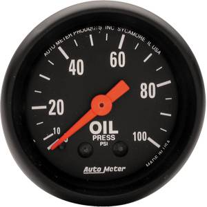 "2-1/16"" Gauges - Auto Meter Z-Series - Autometer - Auto Meter Z-Series, Oil Pressure 100psi (Mechanical)"