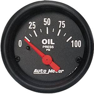 "2-1/16"" Gauges - Auto Meter Z-Series - Autometer - Auto Meter Z-Series, Oil Pressure 100psi (Short Sweep Electric)"