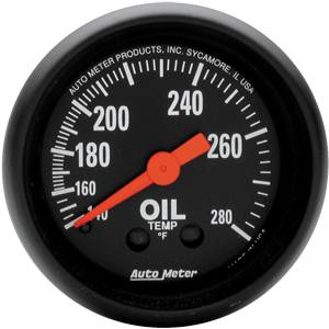 "2-1/16"" Gauges - Auto Meter Z-Series - Autometer - Auto Meter Z-Series, Oil Temperature 140*-280*F (Mechanical)"