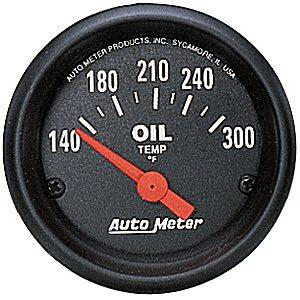 Auto Meter Z-Series, Oil Temperature 140*-300*F (Short Sweep Electric)
