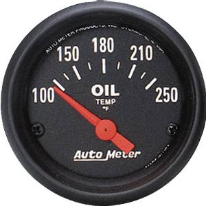 Auto Meter Z-Series, Oil Temperature 100*-250*F (Short Sweep Electric)