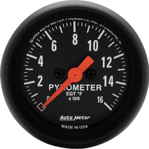 "2-1/16"" Gauges - Auto Meter Z-Series - Autometer - Auto Meter Z-Series, Pyrometer Kit 0*-1600*F (Full Sweep Electric)"