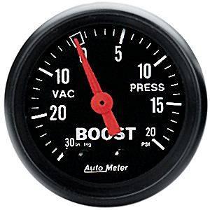 "Auto Meter Z-Series, Vacuum/Boost 30"" HG/20psi (Mechanical)"