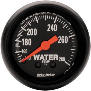 "2-1/16"" Gauges - Auto Meter Z-Series - Autometer - Auto Meter Z-Series, Water Temperature 140*-280*F (Mechanical)"