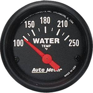 "2-1/16"" Gauges - Auto Meter Z-Series - Autometer - Auto Meter Z-Series, Water Temperature 100*-250*F (Short Sweep Electric)"