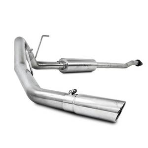 "Exhaust - 3"" Cat Back Exhaust - MBRP - MBRP Cat Back Exhaust, Ford (2009-11) F-150. 4.6L & 5.4L, EC/CC, Single Side Exit, T409 Stainless"
