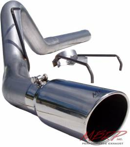 "Exhaust - 4"" Cat/DPF Back Single Exit Exhaust - MBRP - MBRP 4"" Cat Back Exhaust, Dodge (2004.5-07) 2500/3500, 5.9L Cummins, Single Side Exit, Aluminized"