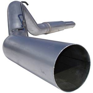 "Exhaust - 5"" Cat/DPF Back Single Exit Exhaust - MBRP - MBRP 5"" Cat Back Exhaust, Dodge (2004.5-07) 2500/3500, 5.9L Cummins, Single Side Exit, Aluminized"