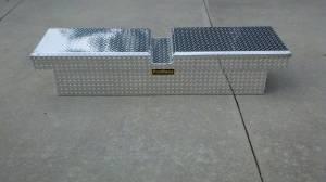 """Pro Maxx - Pro Maxx Truck Tool Box, 72""""L x 19""""W x 13""""H Aluminum Diamond Plate, Gull Wing"""