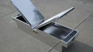 """Pro Maxx - Pro Maxx Truck Tool Box, 72""""L x 19""""W x 13""""H Aluminum Diamond Plate, Gull Wing - Image 3"""