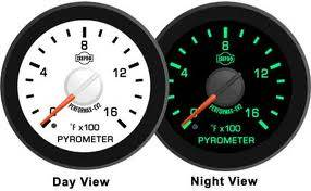 "2-1/16"" Gauges - Isspro EV2 White/Red - Isspro - Isspro EV2 Series White Face/Red Pointer/Green Lighting, EGT Gauge (0-1600*)"