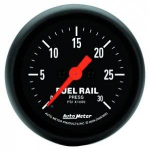 "2-1/16"" Gauges - Auto Meter Z-Series - Autometer - Auto Meter Z-Series, Fuel Rail Pressure (6.7L, LBZ, LMM)"