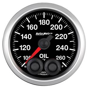 "2-1/16"" Gauges - Auto Meter Competition Series - Autometer - Auto Meter Competition Series, Oil Temperature 100*-260*F w/ Warning"