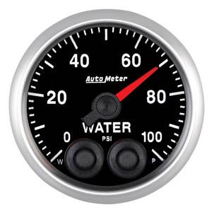 "2-1/16"" Gauges - Auto Meter Competition Series - Autometer - Auto Meter Competition Series, Water Pressure 100psi w/ Warning"