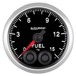 "2-1/16"" Gauges - Auto Meter Elite Series - Autometer - Auto Meter Elite Series, Fuel Pressure 15psi"