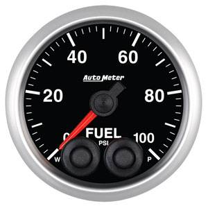 "2-1/16"" Gauges - Auto Meter Elite Series - Autometer - Auto Meter Elite Series, Fuel Pressure 100psi"