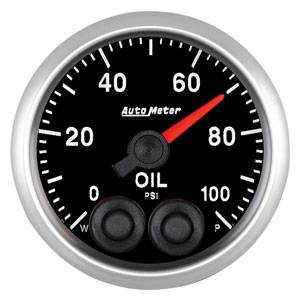 "2-1/16"" Gauges - Auto Meter Elite Series - Autometer - Auto Meter Elite Series, Oil Pressure 100psi"
