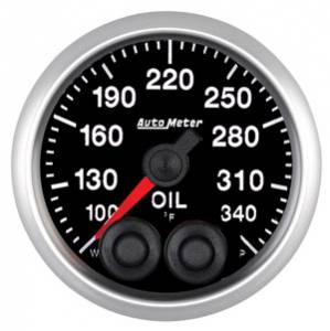 "2-1/16"" Gauges - Auto Meter Elite Series - Autometer - Auto Meter Elite Series, Oil Temperature 100*-340*F"