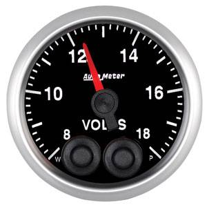 "2-1/16"" Gauges - Auto Meter Elite Series - Autometer - Auto Meter Elite Series, Voltmeter 8-18 volts"
