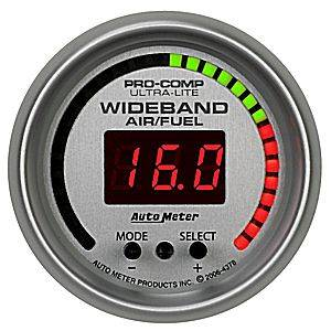 "2-1/16"" Gauges - Auto Meter Ultra Lite II Series - Autometer - Auto Meter Ultra Lite Series, Air Fuel Ratio-Wideband Pro (Full Sweep Electric)"