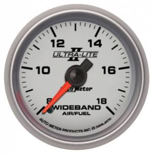 "2-1/16"" Gauges - Auto Meter Ultra Lite II Series - Autometer - Auto Meter Ultra Lite II Series, Air/Fuel Ratio-Wideband Analog (Full Sweep Electric)"