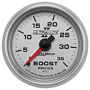 "2-1/16"" Gauges - Auto Meter Ultra Lite II Series - Autometer - Auto Meter Ultra Lite II Series, Boost Pressure 0-35psi (Mechanical)"