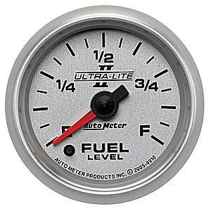 "2-1/16"" Gauges - Auto Meter Ultra Lite II Series - Autometer - Auto Meter Ultra Lite II Series, Fuel Level Programmable (Full Sweep Electric)"