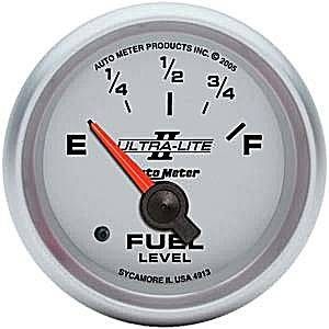 "2-1/16"" Gauges - Auto Meter Ultra Lite II Series - Autometer - Auto Meter Ultra Lite II Series, Fuel Level (Short Sweep Electric) GM"