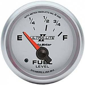 "2-1/16"" Gauges - Auto Meter Ultra Lite II Series - Autometer - Auto Meter Ultra Lite II Series, Fuel Level (Short Sweep Electric) Ford"