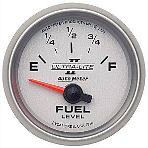 "2-1/16"" Gauges - Auto Meter Ultra Lite II Series - Autometer - Auto Meter Ultra Lite II Series, Fuel Level 240-33 ohms (Short Sweep Electric)"