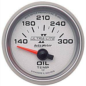 "2-1/16"" Gauges - Auto Meter Ultra Lite II Series - Autometer - Auto Meter Ultra Lite II Series, Oil Temperature 140*-300*F (Short Sweep Electric)"