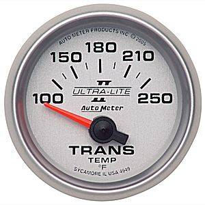 "2-1/16"" Gauges - Auto Meter Ultra Lite II Series - Autometer - Auto Meter Ultra Lite II Series, Transmission Temperature 100*-250*F (Short Sweep Electric)"