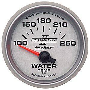 "2-1/16"" Gauges - Auto Meter Ultra Lite II Series - Autometer - Auto Meter Ultra Lite II Series, Water Temperature 100*-250*F (Short Sweep Electric)"